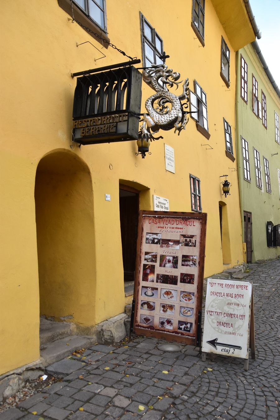 Dracula's birthplace in Sighisoara Romania