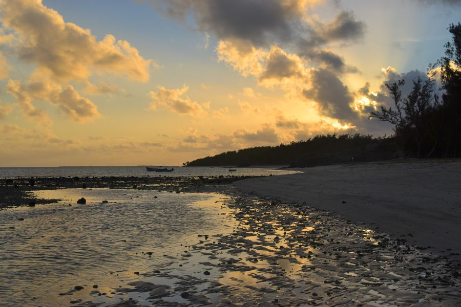 sunset at Graviers beach Rodrigues island