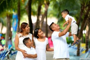 a happy Mexican family