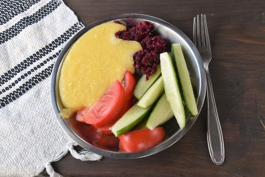 polenta with veggies