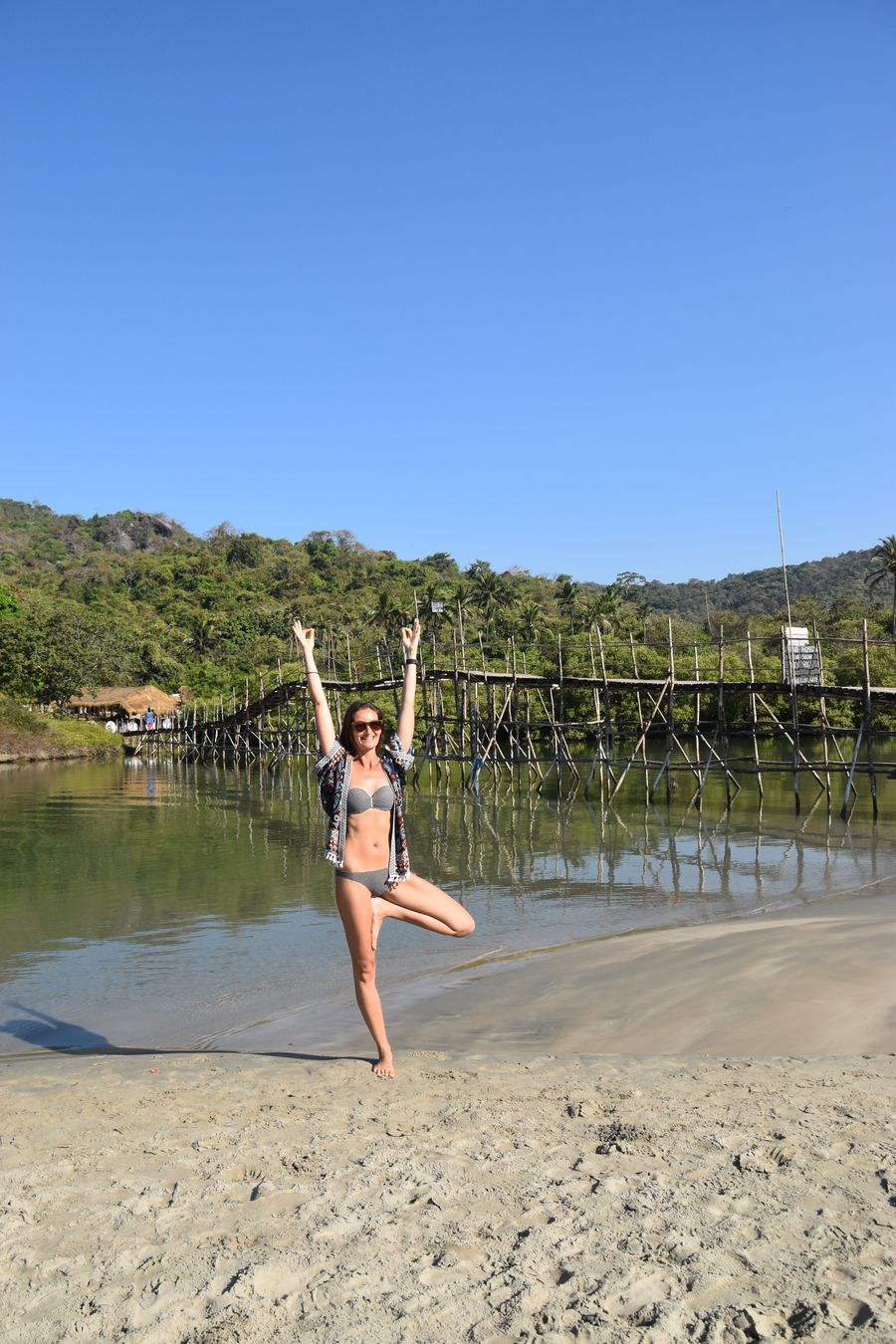 yoga on Palolem beach
