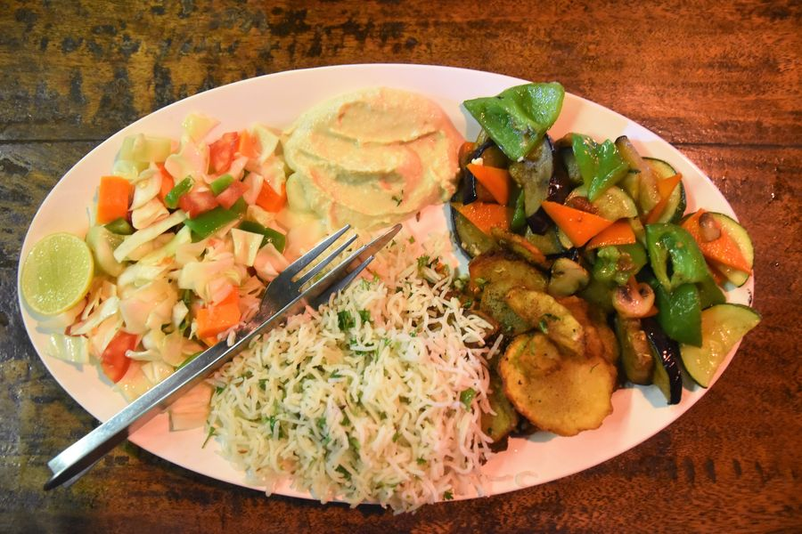Grilled veg platter at Cafe Rumba Palolem
