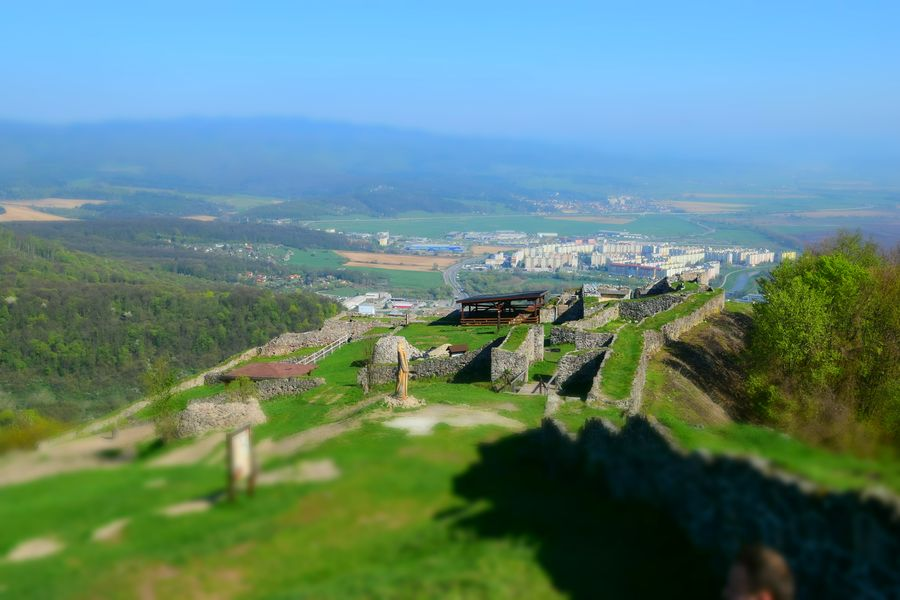 View of Zvolen from the Upper Deserted castle