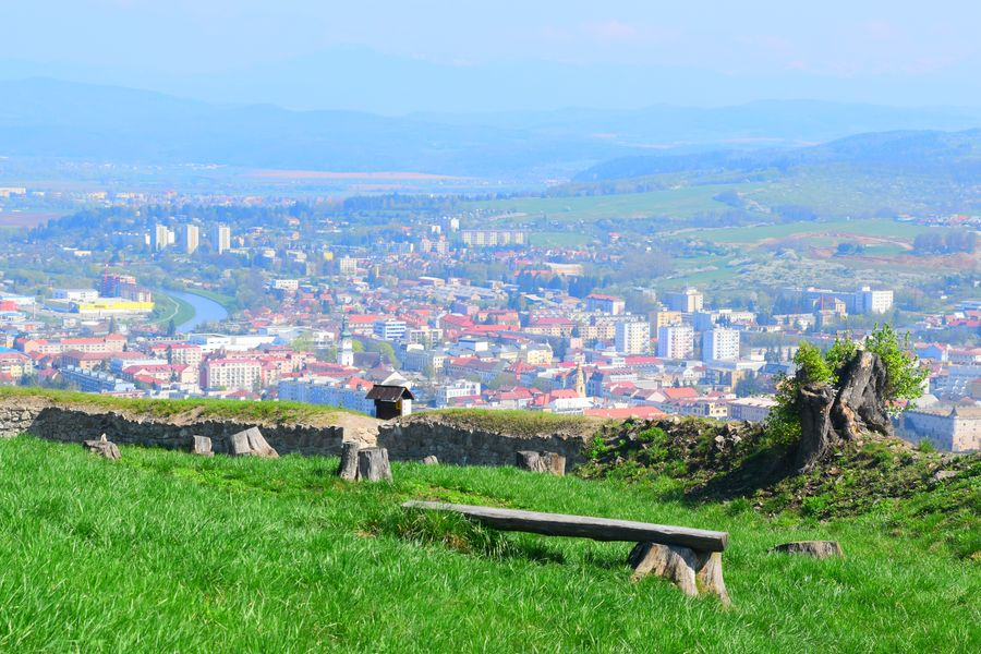 view of Zvolen from the Lower castle