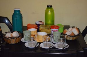 That's all the breakfast items for more than 20 hostel guests