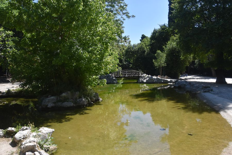 a pond in the National Garden of Athens