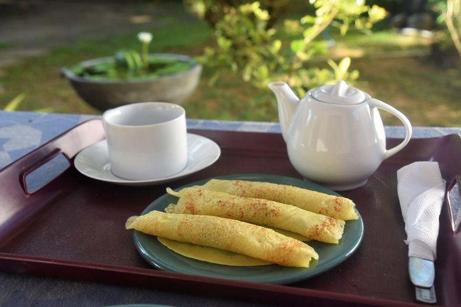 Vegan coconut pancakes Sri Lanka Mirissa