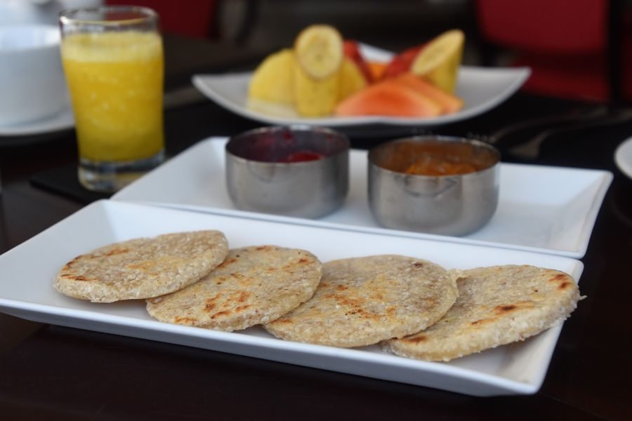 Simple roti for breakfast at 22 Binaweli hotel