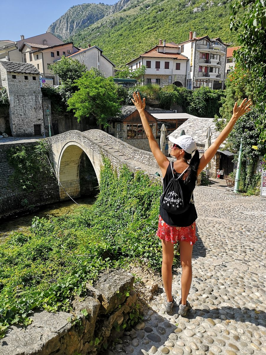 By the Crooked bridge in Mostar