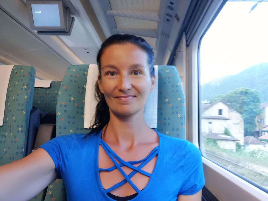 on the train from Mostar to Sarajevo