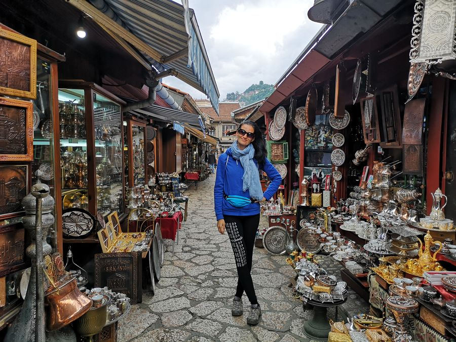 it was cold and mostly raining in Sarajevo