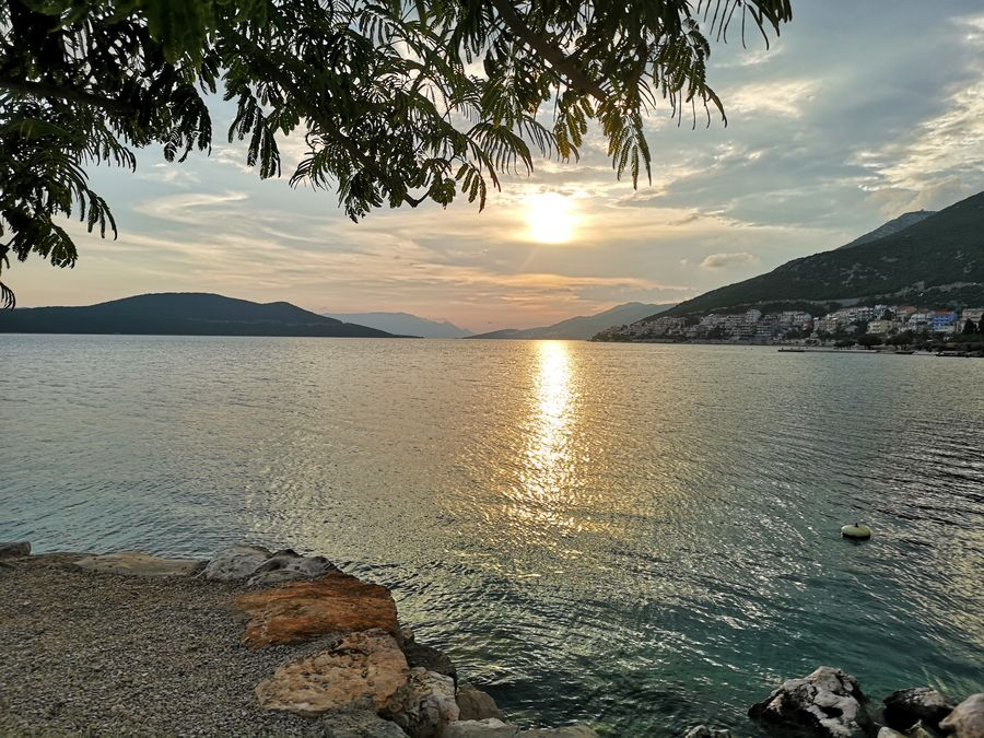 sunset in Neum