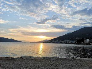 Neum beach at sunset