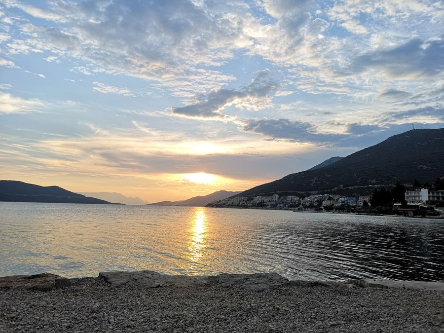 Neum beach at sunset