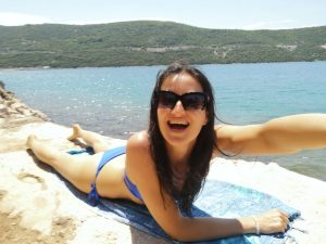 relaxing in Neum Bosnia and Herzegovina