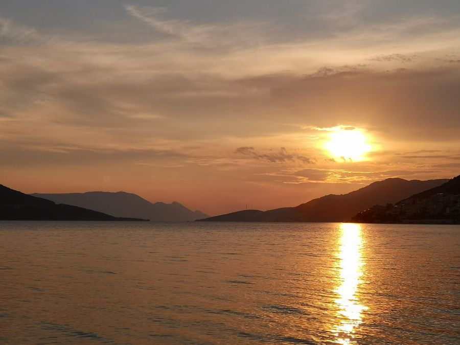 sunset in Neum Bosnia and Herzegovina
