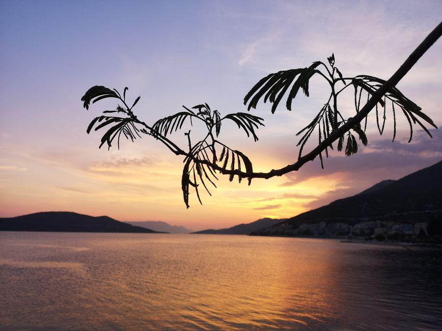 sunset time Neum Bosnia and Herzegovina