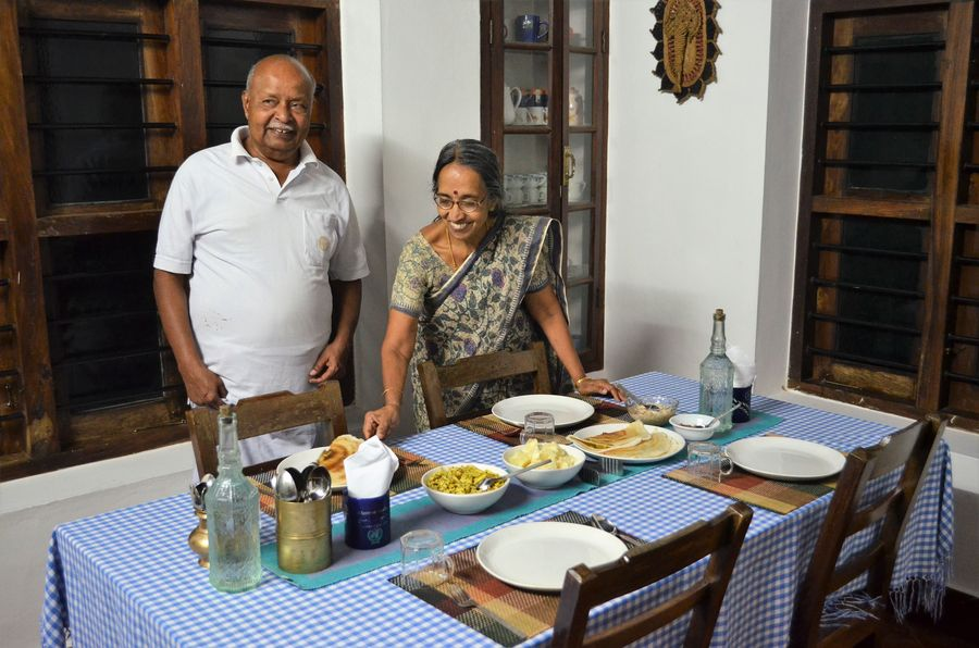 nice home owners I stayed with in Wayanad