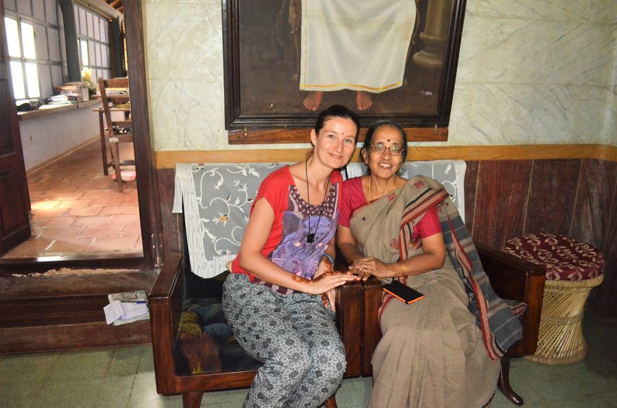 with the sweet home owner in Wayanad