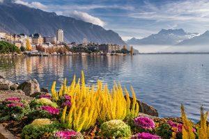 a lake in Switzerland