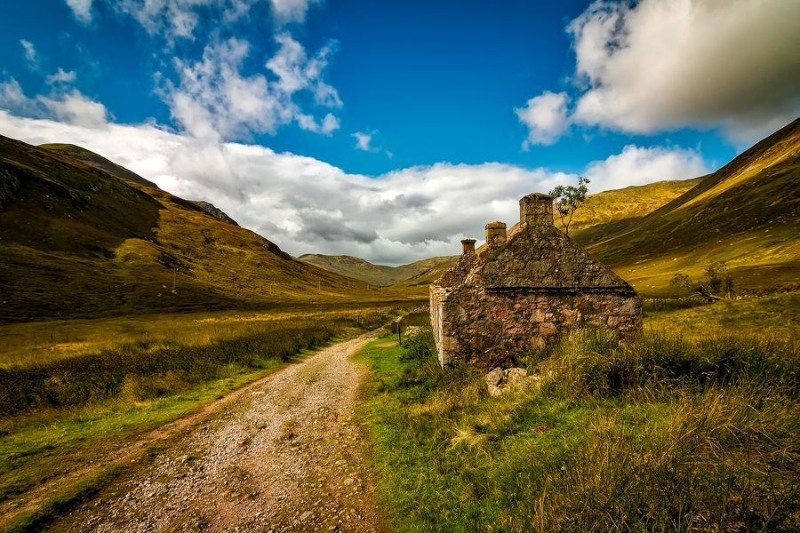 stunning landscape in Highlands Scotland
