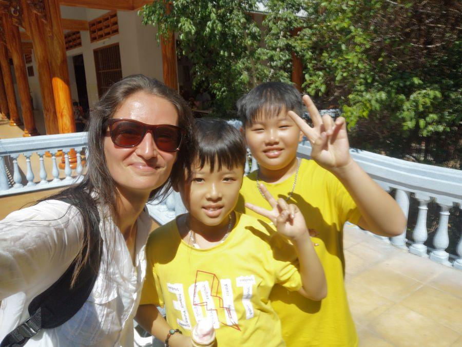 with Vietnamese kids