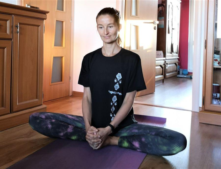 crazy sexy fun traveler practicing yoga