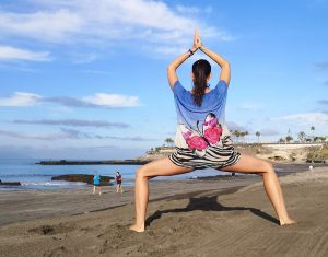 yoga on the beach in Tenerife