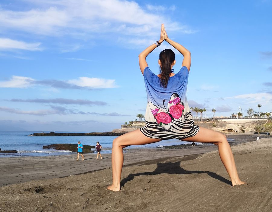 yoga on the beach in Tenerife