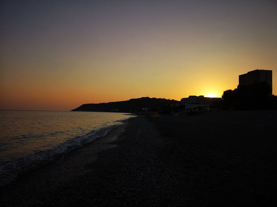 sunset on the Rhodes Greece