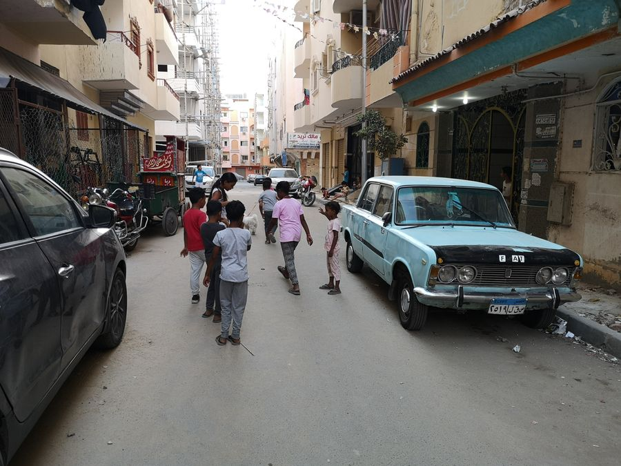 Egyptian kids playing on the street