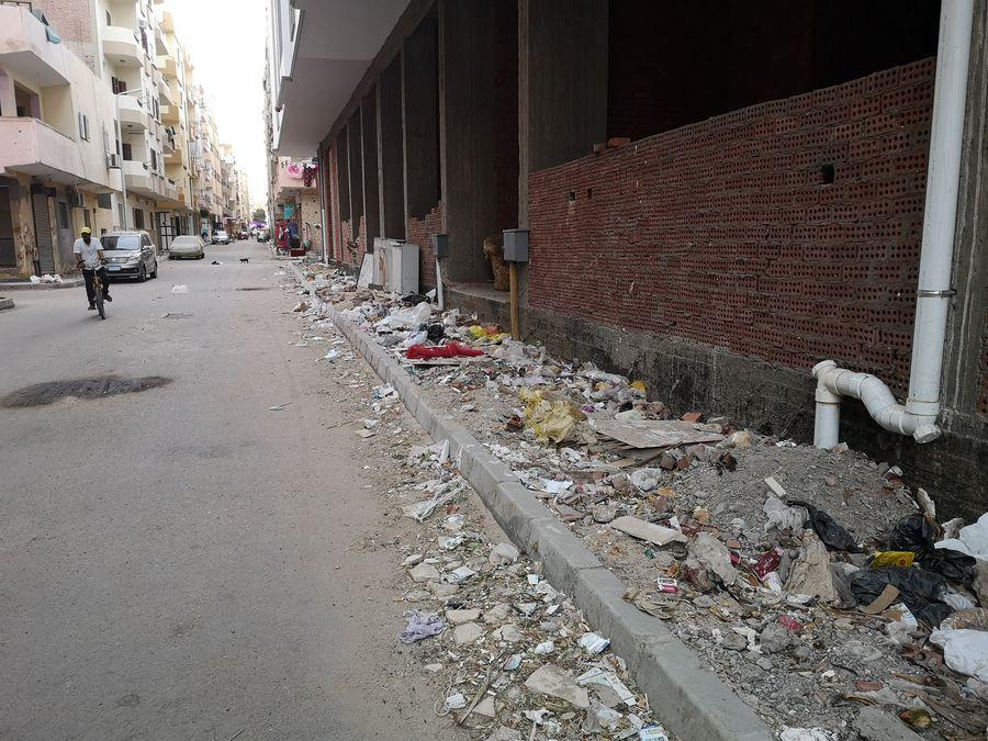 Hurghada streets full of rubbish