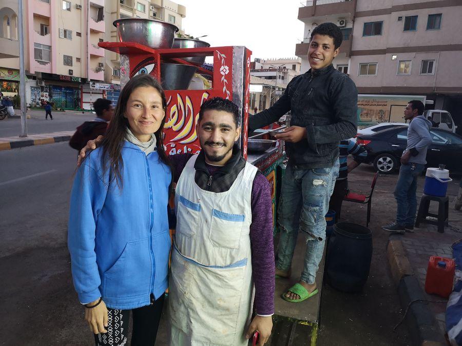 a street food vendor asked me for a selfie