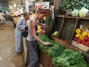 getting vegetables at a local market in Hurghada