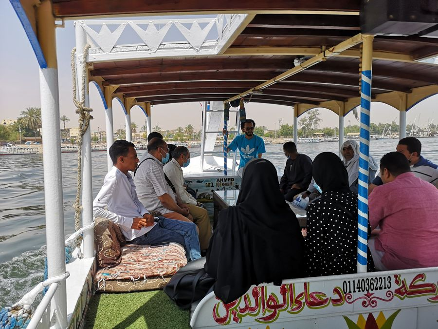 on the boat in Luxor